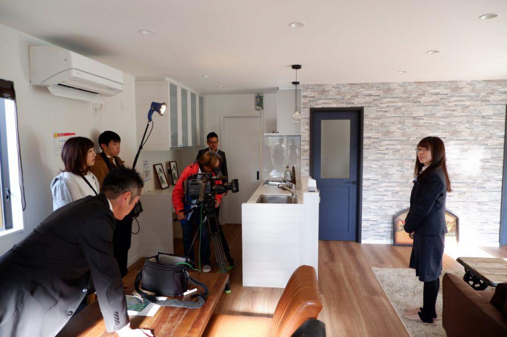 飯盛モデルハウスでテレビの取材が行われました