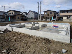 【会津】八日町モデルハウス基礎工事完了!!