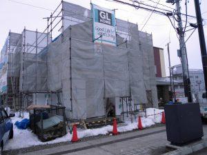 【会津】喜多方市駅前モデルハウス上棟完了!!